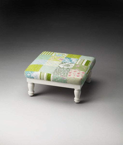 Artifacts Hildy Traditional Solid Wood Urethane Foam Cotton Stool BSF-4275290