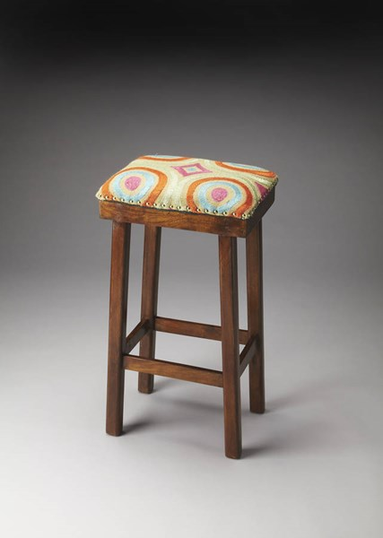 Accent Seating Bisbee Transitional Cotton Wood Upholstered Bar Stool BSF-4294988