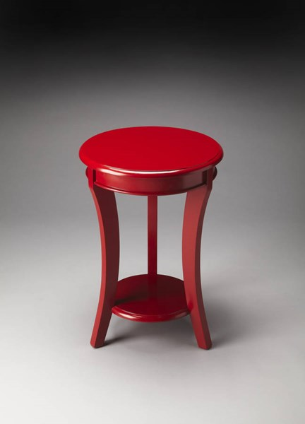 Butler Loft Holden Modern Red Solid Wood Accent Table BSF-4298293