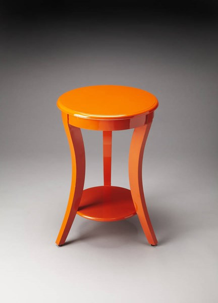 Butler Loft Holden Modern Orange Solid Wood Accent Table BSF-4298294