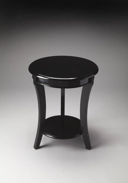 Butler Loft Holden Modern Black Solid Wood Accent Table BSF-4298295