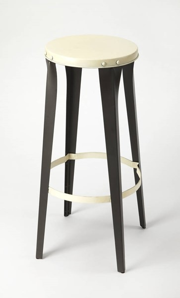 Butler Specialty Industrial Chic Ulrich White Bar Stool BSF-4447330