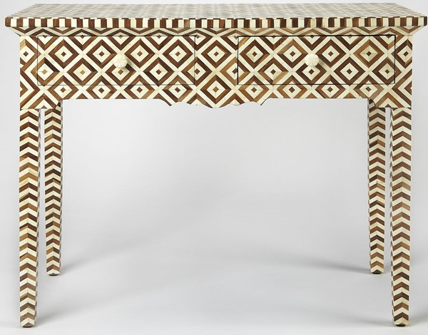 Butler Specialty Bone Inlay Crispin Light Brown Console Table BSF-4497338