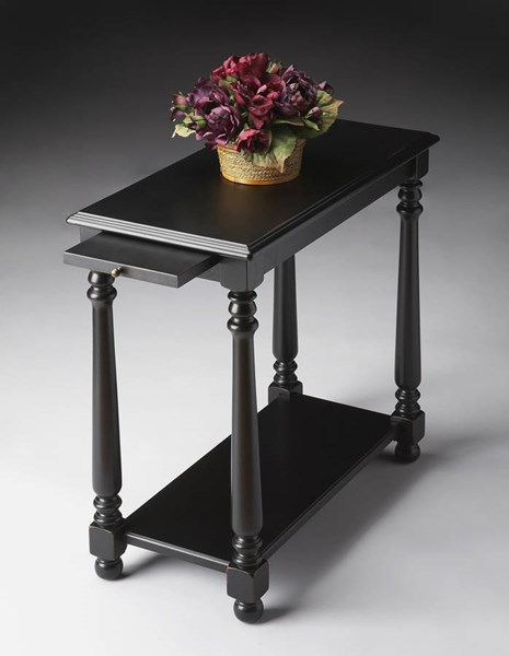 Butler Specialty Masterpiece Devane Black Chairside Table BSF-5017111