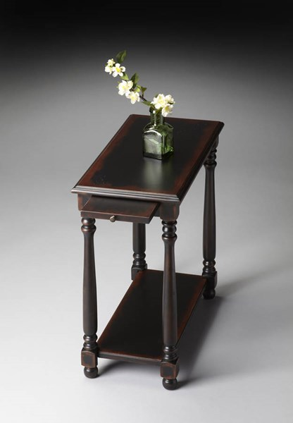 Masterpiece Devane Transitional Black Midnight Rose Chairside Table BSF-5017250