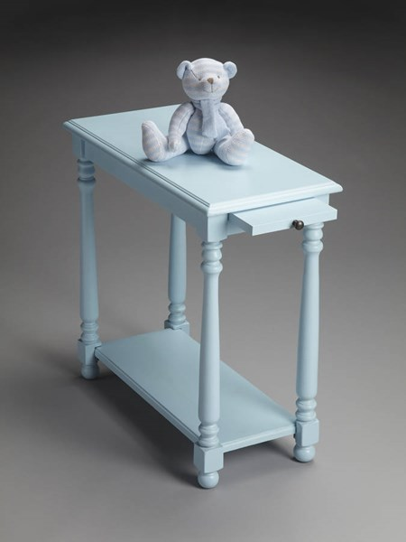 Masterpiece Devane Transitional Baby Blue Chairside Table bsf-5017253