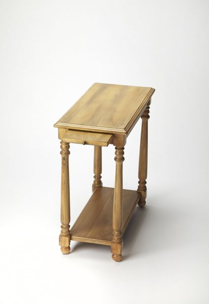 Masterpiece Desert Sand Wood Chairside Table BSF-5017334