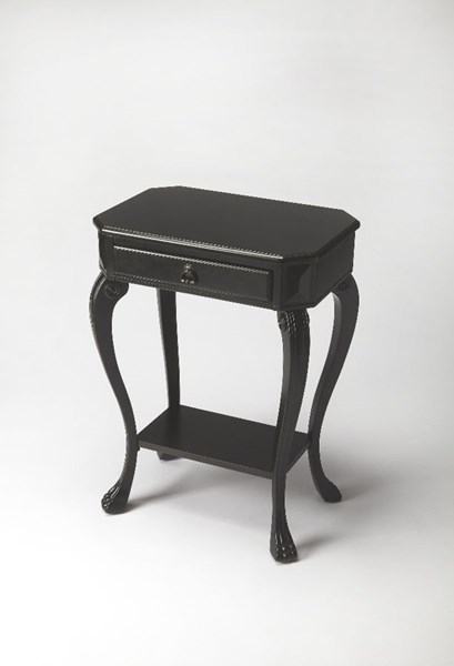 Masterpiece Channing Black Licorice Rubberwood MDF Console Table BSF-5021111