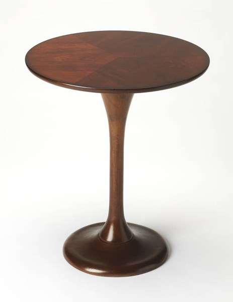 Butler Loft Palmer Dark Brown Rubberwood MDF Resin Accent Table BSF-5031024
