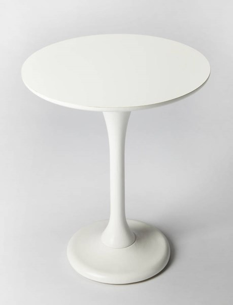 Butler Loft Palmer Cottage White Rubberwood MDF Resin Accent Table BSF-5031222