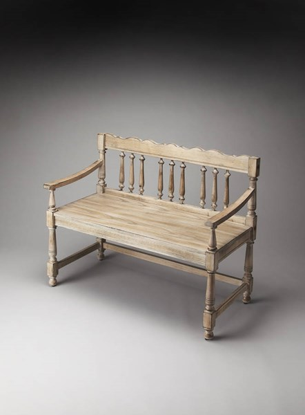 Masterpiece Cather Traditional Gray Driftwood Bench BSF-5049247