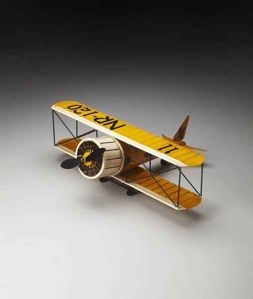 Hors D Oeuvres Quimby Transitional Yellow Airplane Figurine BSF-5098016