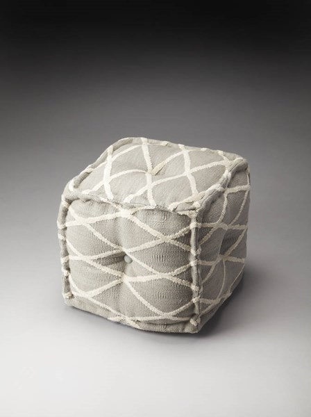 Accent Seating Berkeley Transitional Grey Fabric Pouffe BSF-5103979