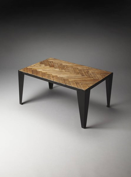 Industrial Chic Tate Modern Wood Iron Cocktail Table BSF-5117330