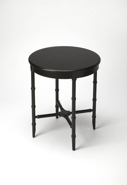 Masterpiece Somerset Black Licorice Cherry Rubberwood MDF Side Table BSF-5146111