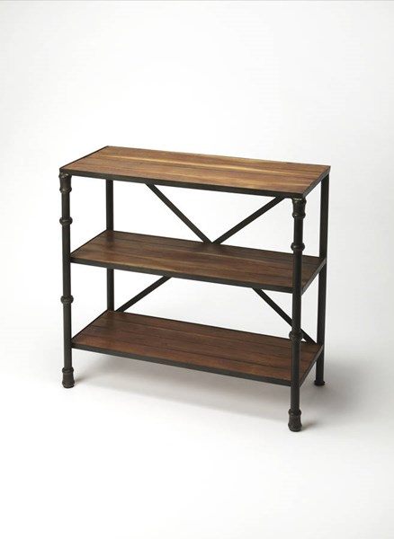 Industrial Chic Auvergne Transitional Iron Solid Wood Console Table BSF-5151330