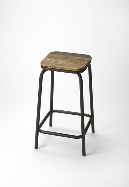 Industrial Chic Transitional Solid Wood Iron Bar Stool BSF-5160330
