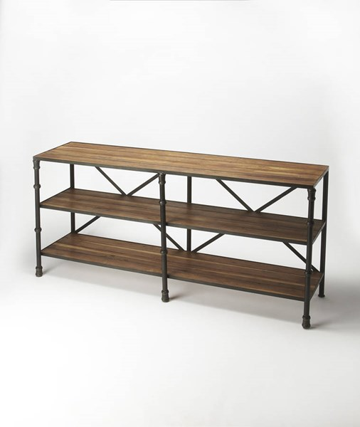 Industrial Chic Auvergne Iron Solid Wood Display Console Table BSF-5170330