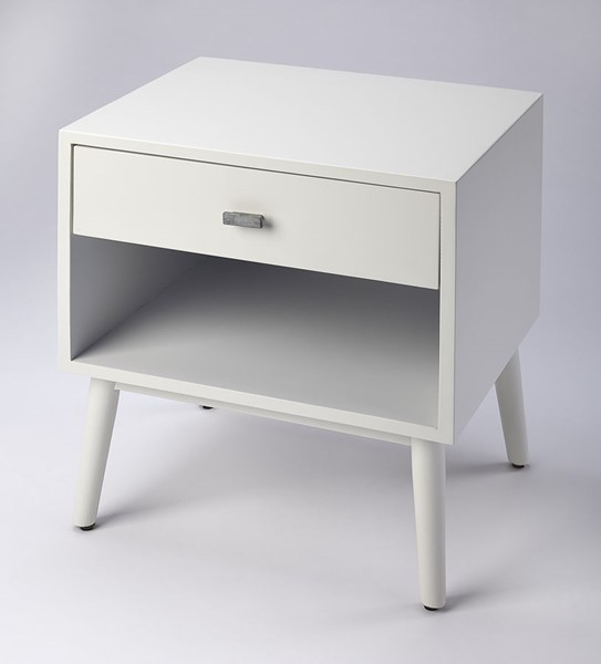 Butler Specialty Modern Expressions Sheldon White Side Table BSF-5250304