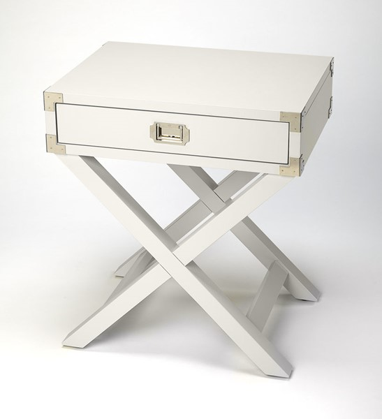 Butler Specialty Loft Anew White Campaign Side Table BSF-5258288