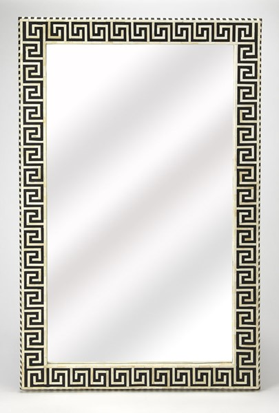 Butler Specialty Bone Inlay Eternity Black Wall Mirror BSF-5267318