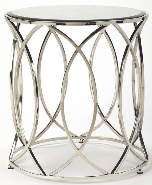 Butler Specialty Metalworks Desiree Silver End Table BSF-5320025