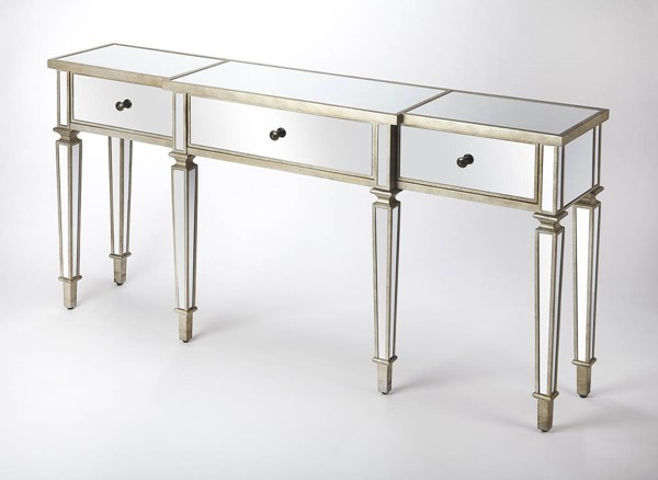 Butler Specialty Masterpiece Hayworth Silver Console Table BSF-5337146