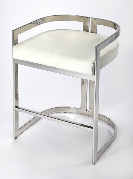 Butler Specialty Loft Bravo Silver Counter Height Stool BSF-5377220