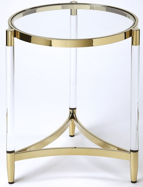 Butler Specialty Loft Charlene Gold Round End Table BSF-5409335