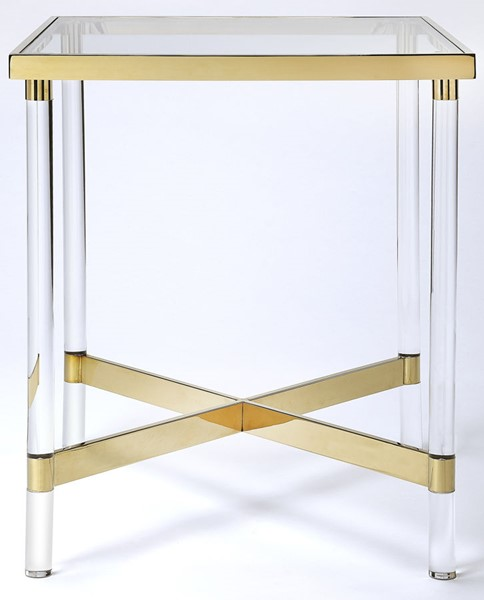 Butler Specialty Loft Charleise Gold Square End Table BSF-5410335