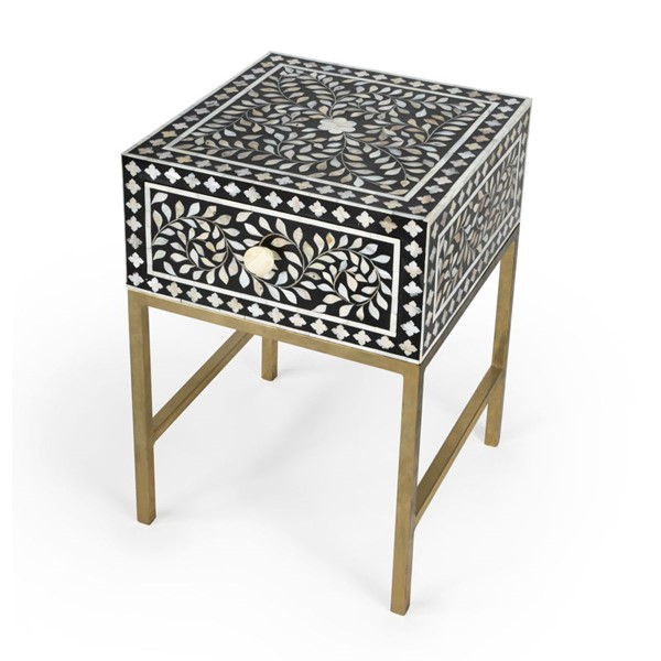 Butler Specialty Purgenia Black White Side Table BSF-5532388