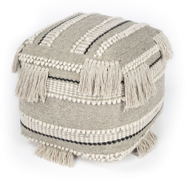 Butler Specialty Realisa Grey Transitional Pouf BSF-5537329