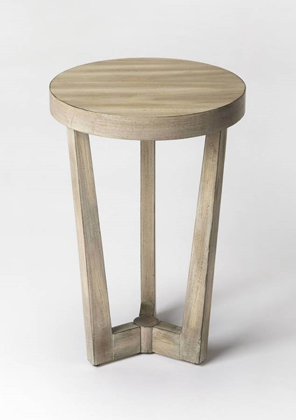 Butler Loft Aphra Driftwood Gray Rubberwood MDF Resin Accent Table BSF-6021247