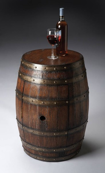 Butler Specialty Mountain Lodge Lovell Dark Brown Barrel Table BSF-6044120