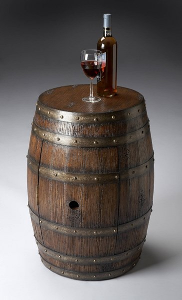 Mountain Lodge Lovell Transitional Solid Wood Barrel Tables BSF-6044-ET-VAR