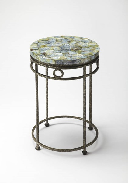 Metalworks Sadye Transitional Fossil Stone Accent Table bsf-6093025