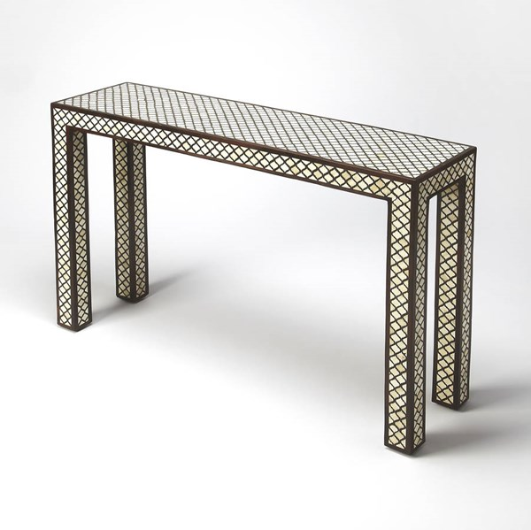 Cosmopolitan Basan Transitional Solid Woods Bone Inlays Console Table bsf-6115338