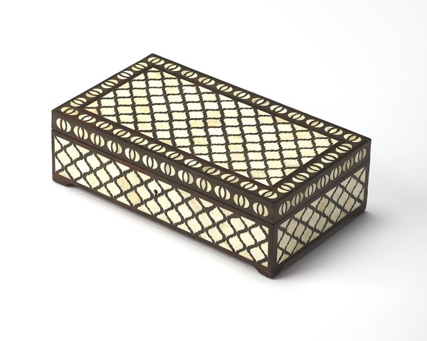 Hors D Oeuvres Basan Transitional Wood Bone Inlays Storage Box BSF-6117338