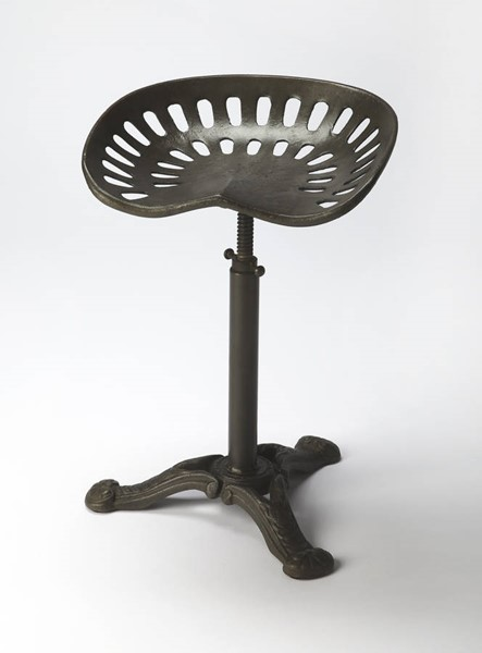 Industrial Chic Victor Transitional Gray Iron Barstool BSF-6119330