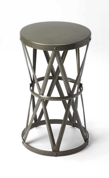Industrial Chic Empire Modern Gray Iron Accent Table BSF-6124330