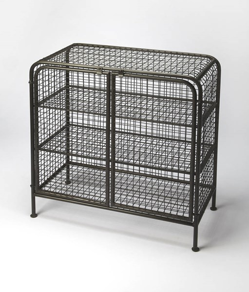 Industrial Chic Diego Modern Iron Three Shelves Cabinet BSF-6129330