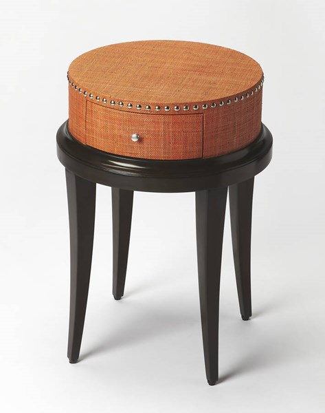 Modern Expressions Hat Box Gemelina Solids MDF Plywood Accent Table bsf-6172260