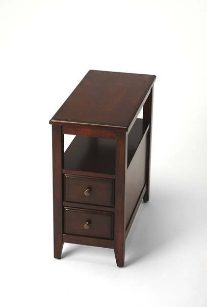Butler Specialty Plantation Cherry Dark Brown Chairside Table BSF-6191024