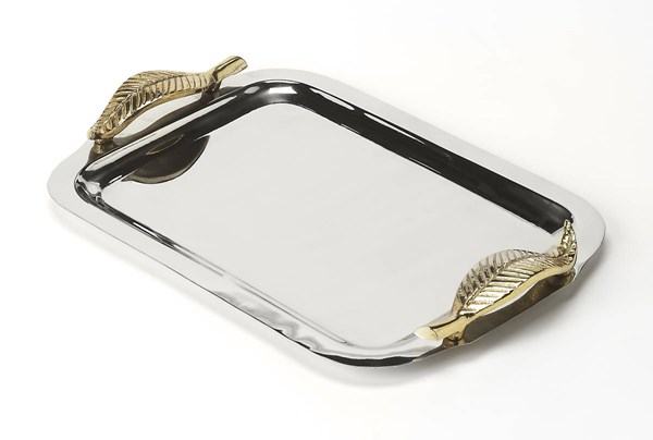 Hors D Oeuvres Solo Transitional Silver Stainless Steel Serving Tray BSF-6192016