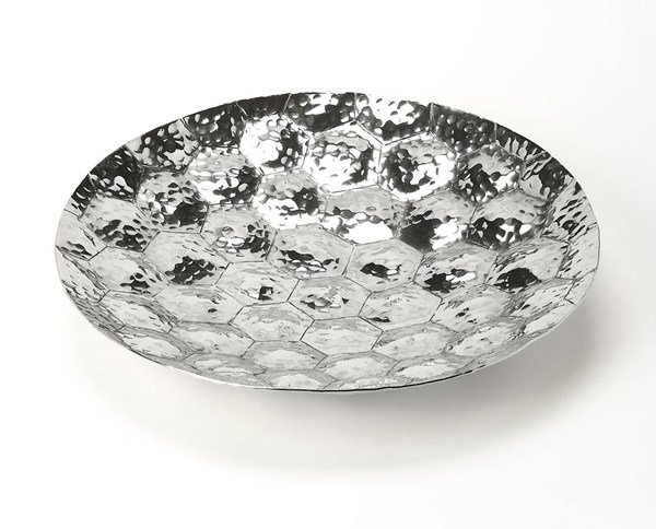 Hors D Oeuvres Prismatic Transitional Silver Stainless Steel Platter BSF-6193016