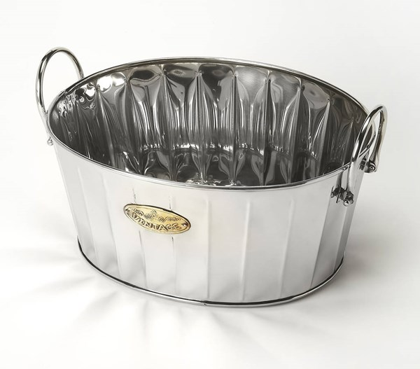 Hors D Oeuvres Santa Rosa Transitional Steel Wine Oval Bucket BSF-6196016