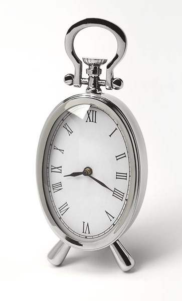 Hors D Oeuvres Constance Transitional Stainless Steel Desk Clock BSF-6204365