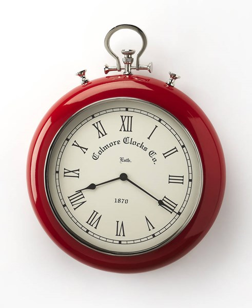 Hors D Oeuvres Scarlet Modern Red Stainless Steel Aluminium Wall Clock BSF-6212365