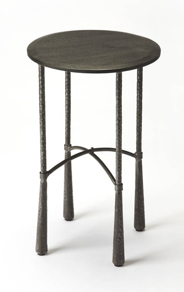 Industrial Chic Bastion Modern Solid Wood Iron Accent Table BSF-6227330