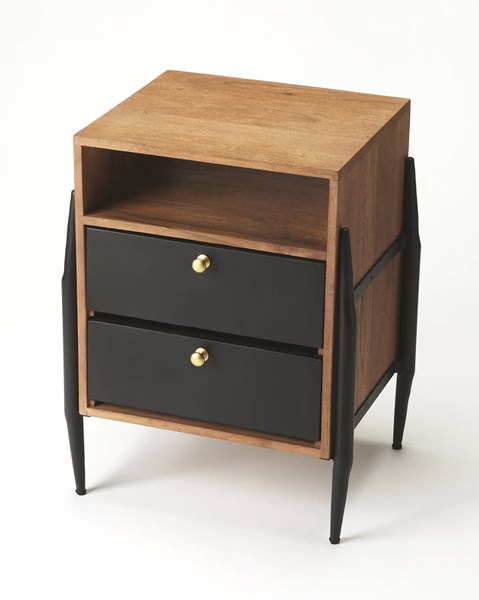 Industrial Chic Palisades Modern Solid Wood Iron Side Table BSF-6228330